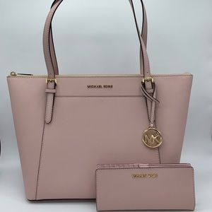Michael Kors Ciara Large Tote w/ Wallet Set